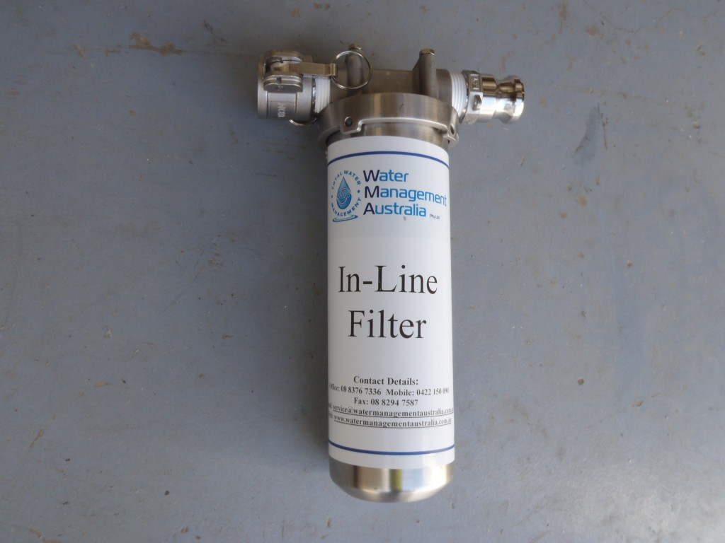In-Line Water Cartridge Filter Housing